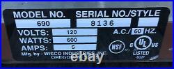 WISCO 690 Food Warmer Cabinet food oven display sandwich 2 door 690-16 #29
